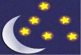 لعبة النجوم  المضيئة في السماء