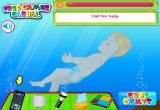 لعبة حقيقية لانقاذ الطفل من الغرق