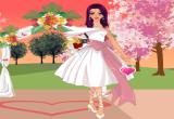 لعبة تلبيس باربي فستان الزفاف