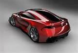 لعبة سيارة مستربن الحمراء