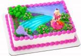 لعبة صنع كيكة باربي في عيد ميلادها