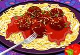 لعبة باربي تطبخ المكرونة باللحم