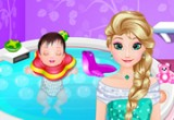 لعبة السا استحمام الطفل