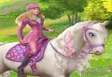 لعبة تلبيس باربي والحصان الطائر