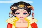 لعبة تلبيس ملكة جمال اسيا