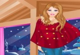لعبة تلبيس ازياء باربي الشتوية