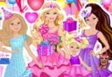 لعبة عيد ميلاد باربي والعائلة