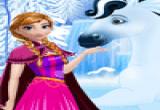 العاب اميرة الثلج رعاية الحصان