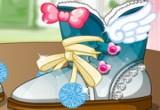 لعبة تصميم احذية الشتاء