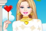 لعبة تلبيس باربي يوم الحب