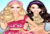 العاب تلبيس باربي ملابس وردية