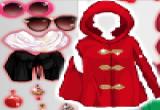 العاب تلبيس بنات ملابس بلون احمر