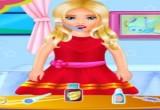 لعبة علاج باربي الطفلة الصغيرة